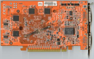 Asus Radeon X800 GTO (256 MB GDDR3) (back side)